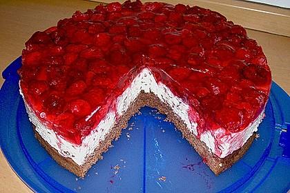 Himbeer Stracciatella Torte