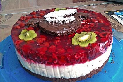 Himbeer Stracciatella Torte 7