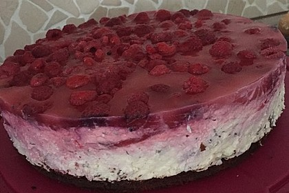 Himbeer Stracciatella Torte 14