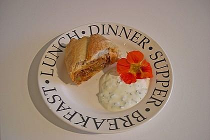 Hackfleisch - Käse - Strudel (Bild)