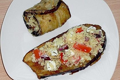 Auberginenröllchen mit Couscoussalat 6