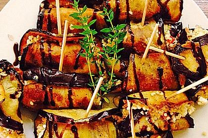 Auberginenröllchen mit Couscoussalat 1