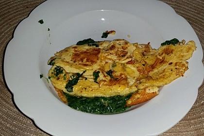 Spinat-Käse-Omelett 12