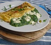 Spinat-Käse-Omelett (Bild)