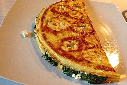 Spinat-Käse-Omelett 4