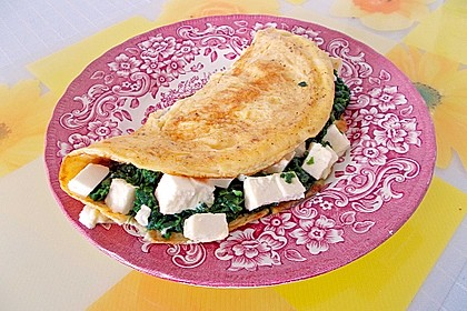 Spinat-Käse-Omelett 9
