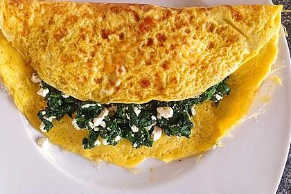 Spinat-Käse-Omelett 2
