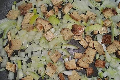 Grüner Spargel mit Tofu zu Spaghetti