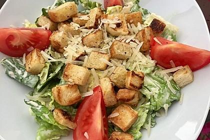 Caesar's Salad mit Parmesan - Croûtons 3
