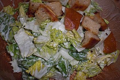 Caesar's Salad mit Parmesan - Croûtons 8