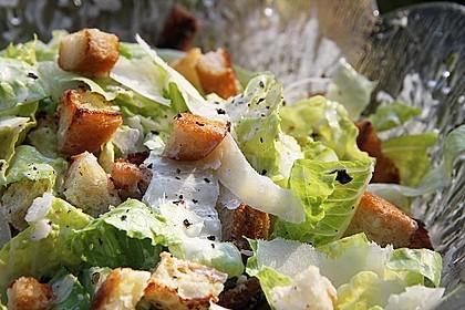 Caesar's Salad mit Parmesan - Croûtons 1