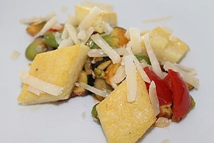 Polentaschnitten mit Gemüse 8