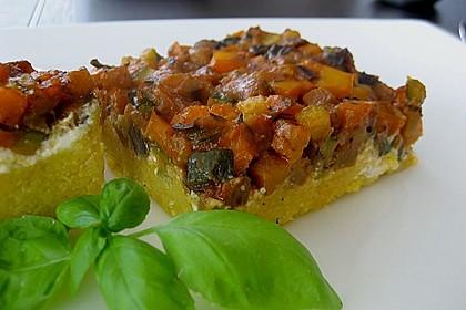 Polentaschnitten mit Gemüse 9