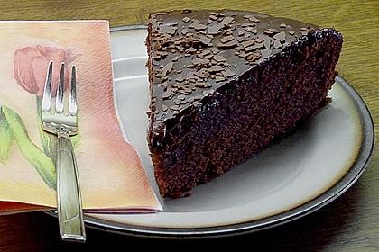 'Schwarze Versuchung' - Schokoladenkuchen 1