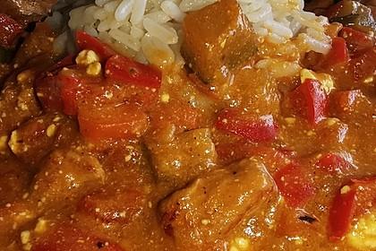 Puten - Gemüse - Pfanne mit Feta (Bild)
