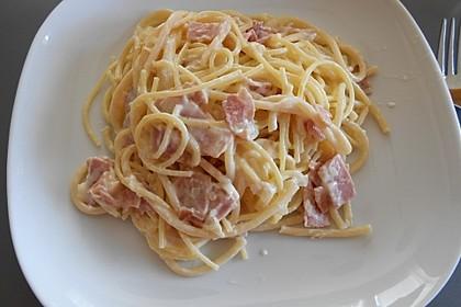 Spaghetti mit Schinken - Sahne - Sauce 5