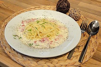 Spaghetti mit Schinken - Sahne - Sauce 1