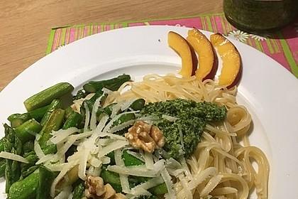 Spaghetti mit gebratenem Spargel und Bärlauchpesto 15