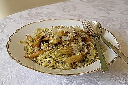 Spaghetti mit gebratenem Spargel und Bärlauchpesto 10