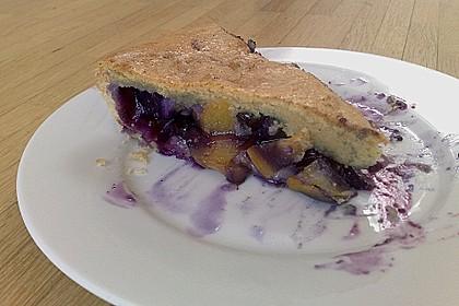 Peach Blueberry Cobbler Pie
