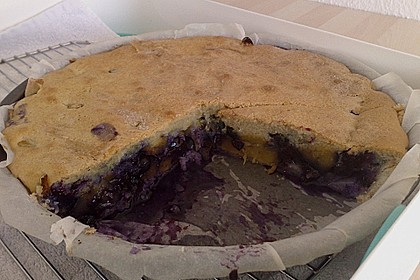 Peach Blueberry Cobbler Pie 2