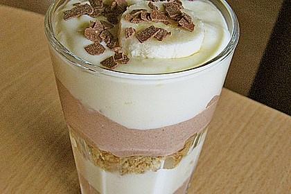 Bananen - Vanille - Schokocreme - Dessert 10