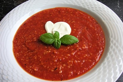 Leichte Tomatensuppe mit Reis 9