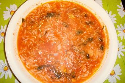 Leichte Tomatensuppe mit Reis 13