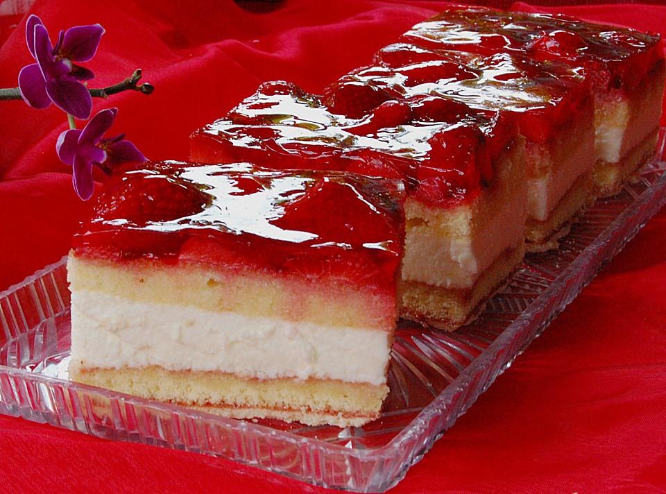 Erdbeer Vanille Sahne Quark Torte Von Caroline48 Chefkoch De