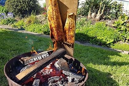 Würziger Flammlachs vom Feuer 6