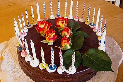 Mandel - Schoko - Torte mit Orangenpudding 1