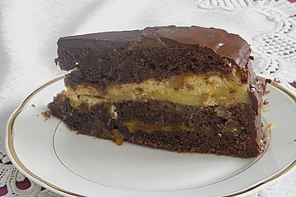 Mandel - Schoko - Torte mit Orangenpudding 3