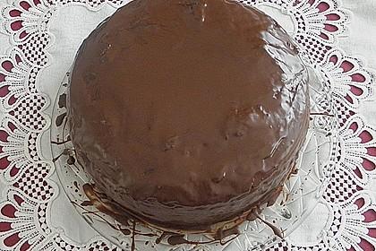 Mandel - Schoko - Torte mit Orangenpudding 2