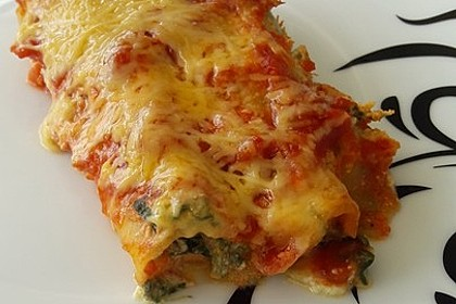 Cannelloni mit Ricotta - Spinat - Füllung
