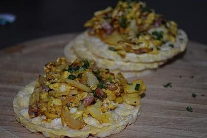 Zucchini-Schinken-Rührei auf Brot 3