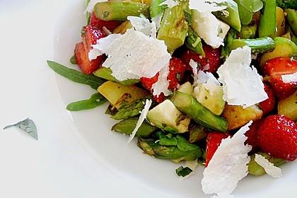 Bratkartoffelsalat mit Avocado und grünem Spargel in Orangen - Balsamico - Dressing 2