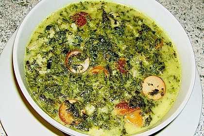 Grünkohl-Käse-Suppe