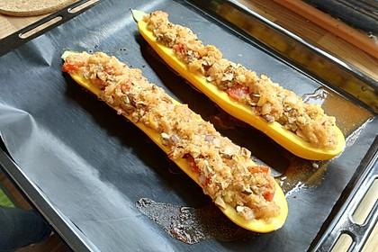 Vegetarisch gefüllte Zucchini mit Quinoa und Ahornsirup 16