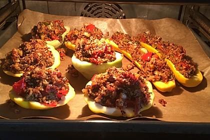 Vegetarisch gefüllte Zucchini mit Quinoa und Ahornsirup 6