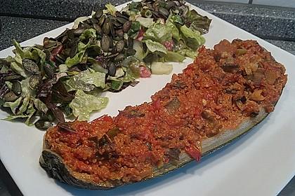 Vegetarisch gefüllte Zucchini mit Quinoa und Ahornsirup 26
