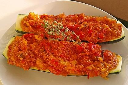 Vegetarisch gefüllte Zucchini mit Quinoa und Ahornsirup 20