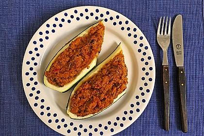 Vegetarisch gefüllte Zucchini mit Quinoa und Ahornsirup 12