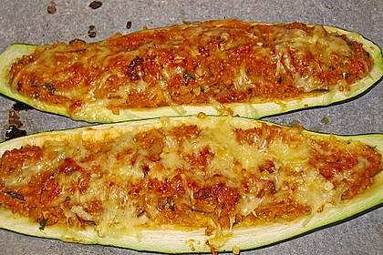 Vegetarisch gefüllte Zucchini mit Quinoa und Ahornsirup 21