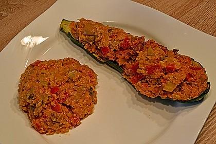 Vegetarisch gefüllte Zucchini mit Quinoa und Ahornsirup 27