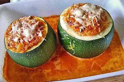 Vegetarisch gefüllte Zucchini mit Quinoa und Ahornsirup 3