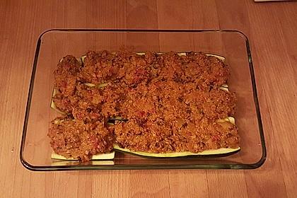 Vegetarisch gefüllte Zucchini mit Quinoa und Ahornsirup 28