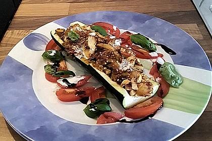 Vegetarisch gefüllte Zucchini mit Quinoa und Ahornsirup 9