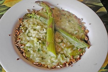 Wildkräuter - Risotto mit grünem Spargel 1