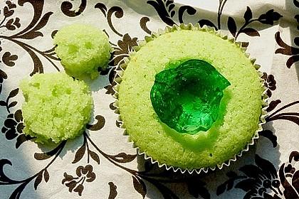 Zitronen - Cupcakes mit Waldmeister - Frischkäse - Creme 55