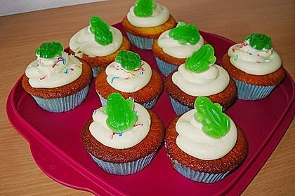 Zitronen - Cupcakes mit Waldmeister - Frischkäse - Creme 34
